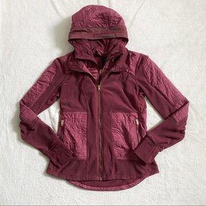 Lululemon fleecy keen III wineberry jacket size 8